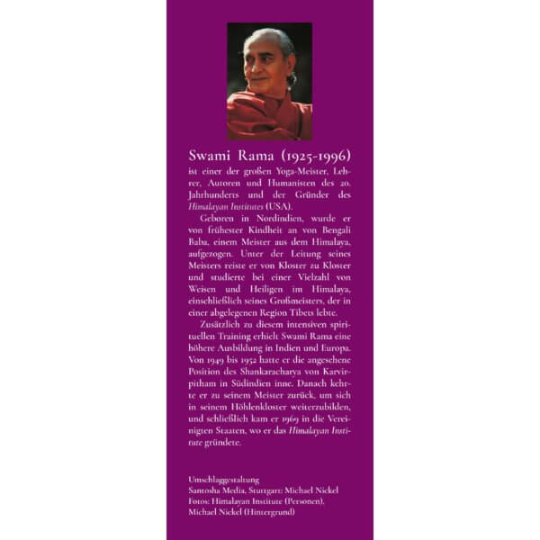 AV108 - Swami Rama: Mein Leben mit den Meistern des Himalayas (Klappe hinten)