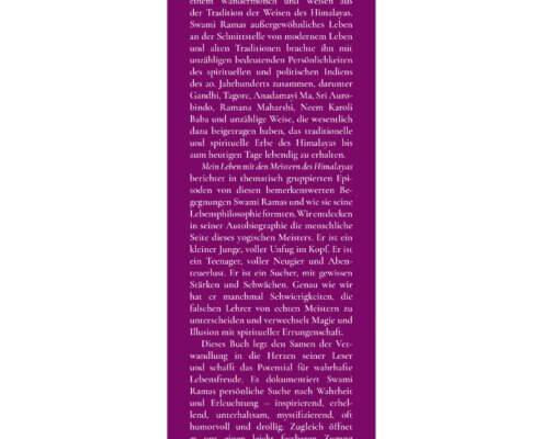 AV108 - Swami Rama: Mein Leben mit den Meistern des Himalayas (Klappe vorn)
