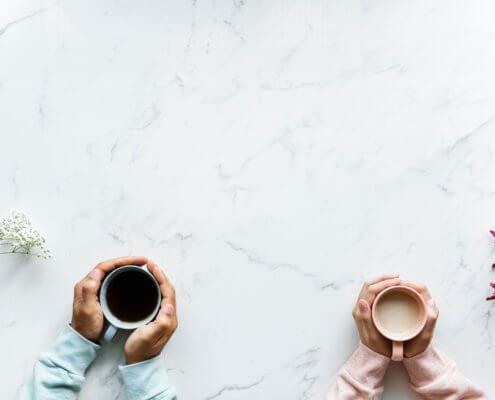 Kommunikation - Kaffee - Menschen - Denken