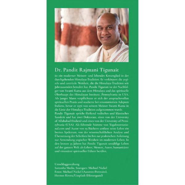 AV022 Die Kraft von Mantra und Yantra - Initiation und Praxis im Yoga von Klang und Form (Pandit Rajmani Tigunait) - Klappe hinten