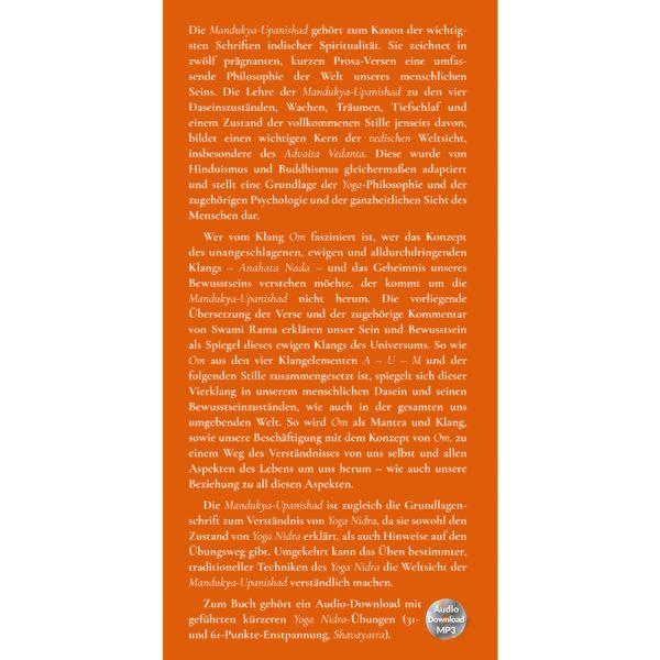 AV012 Die Essenz des Seins - Mandukya-Upanishad (Swami Rama) - Yoga Nidra - Agni Verlag - Klappe vorn