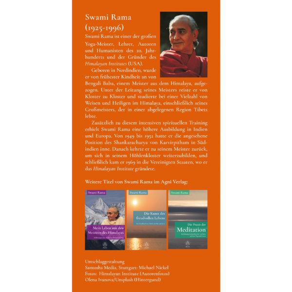 AV012 Die Essenz des Seins - Mandukya-Upanishad (Swami Rama) - Yoga Nidra - Agni Verlag Klappe hinten