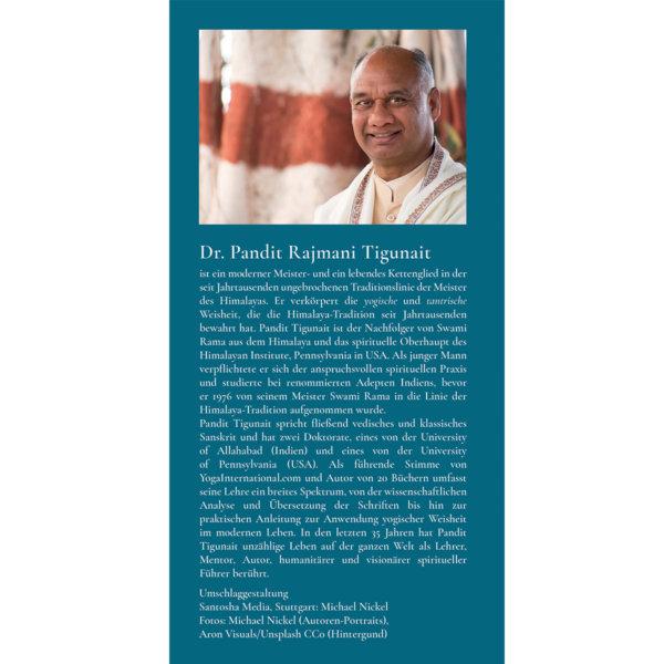 Klappe hinten: Von der Kunst, Leben und Tod zu begegnen: Katha-Upanishad: Yoga für Klarheit, Gelassenheit und Weitblick (mit Audio-Download) - Pandit Rajmani Tigunai - Agni Verlag