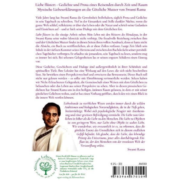 Liebe flüstert - Gedichte und Prosa eines Reisenden durch Zeit und Raum. Mystische Liebeserklärungen an die Göttliche Mutter. (Swami Rama, Agni Verlag 2020)