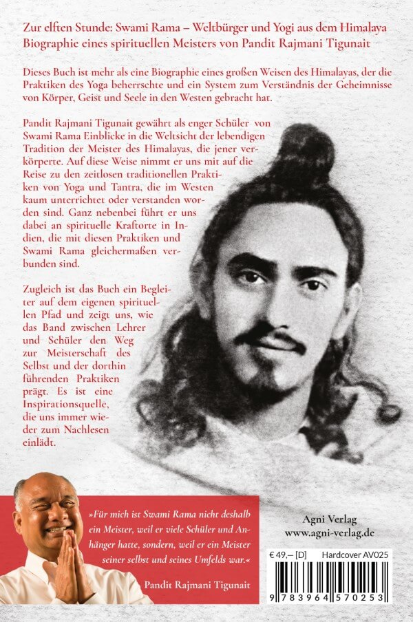 Zur elften Stunde: Swami Rama - Hardcover (Rückseite)