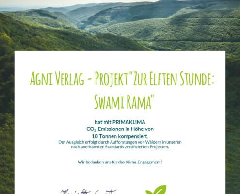 CO2-Zertifikat Buch Zur Elften Stunde - Primaklima